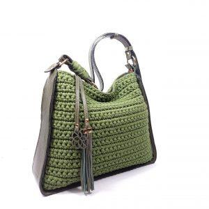 Bolsa Lianne Crochê Verde