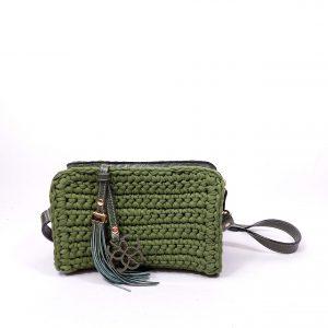 Mini Bolsa Belina Crochê Verde