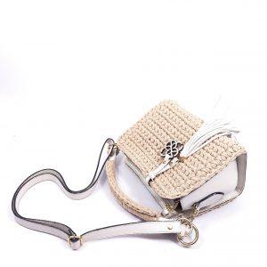 Mini Bolsa Nola Off White com Areia