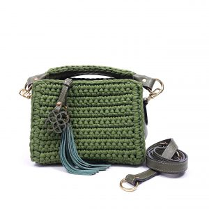Mini Bolsa Nola Crochê Verde